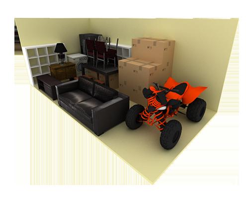 10 x 20 storage unit possible configuration