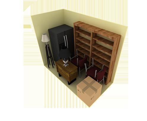 5 x 10 storage unit possible configuration