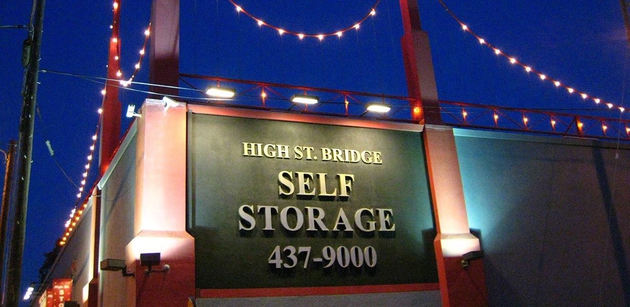 Front view of High Street Bridge Self Storage