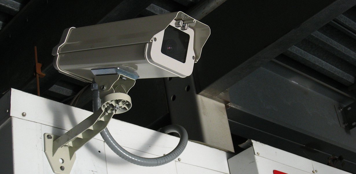 Surveillance camera at High Street Bridge Storage